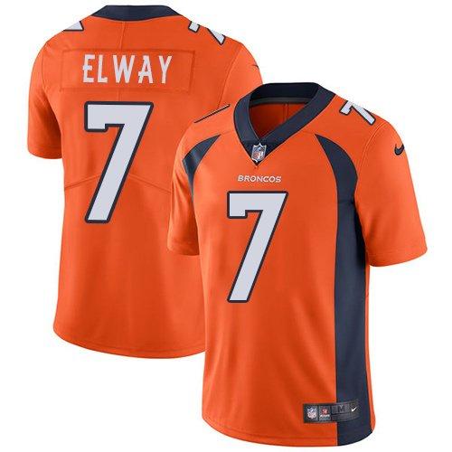 Broncos #7 John Elway Orange Men's Stitched Limited Jersey