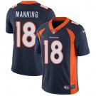 Broncos #18 Peyton Manning Navy Blue Men's Stitched Limited Jersey