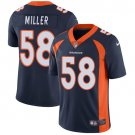 Broncos #58 Von Miller Navy Blue Men's Stitched Limited Jersey