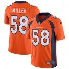 Broncos #58 Von Miller Orange Men's Stitched Limited Jersey