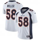 Broncos #58 Von Miller White Men's Stitched Limited Jersey