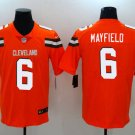 Browns #6 Baker Mayfield Orange 2018 Draft Pick Limited Jersey