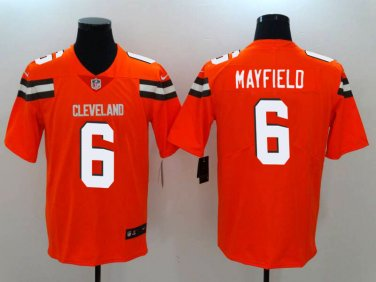 low priced 24d88 30719 Browns #6 Baker Mayfield Orange 2018 Draft Pick Limited Jersey