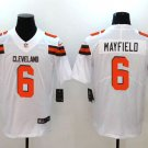 Browns #6 Baker Mayfield White 2018 Draft Pick Limited Jersey