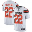 Browns #22 Jabrill Peppers White Men's Stitched Limited Jersey