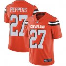 Browns #27 Jabrill Peppers Orange Men's Stitched Limited Jersey