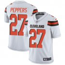 Browns #27 Jabrill Peppers White Men's Stitched Limited Jersey