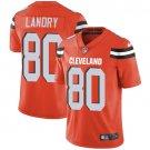 Browns #80 Jarvis Landry Orange Men's Stitched Limited Jersey