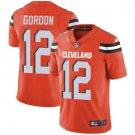 Browns #12 Josh Gordon Orange Men's Stitched Limited Jersey