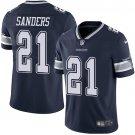 Cowboys #21 Deion Sanders Navy Blue Men's Stitched Limited Jersey