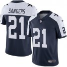 Cowboys #21 Deion Sanders Navy Thanksgiving Men's Limited Jersey