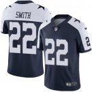 Cowboys #22 Emmitt Smith Navy Thanksgiving Men's Limited Jersey