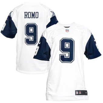 Tony Romo Cowboys Men's Color Rush Game Stitched Jersey - White