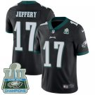 Eagles #17 Alshon Jeffery Black Champions Men's Stitched Limited Jersey