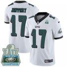 Eagles #17 Alshon Jeffery White Champions Men's Stitched Limited Jersey