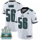 Eagles #56 Chris Long White Champions Men's Stitched Limited Jersey