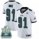 Eagles #91 Fletcher Cox White Champions Men's Stitched Limited Jersey