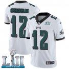 Eagles #12 Randall Cunningham White SuperBowl Men's Limited Jersey
