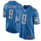 Lions #9 Matthew Stafford Blue Men's Stitched Game Jersey