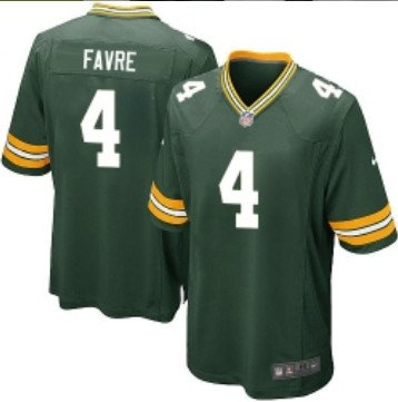 Packers #4 Brett Favre Green Stitched Game Jersey