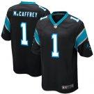Men's Christian McCaffrey Panthers Game Jersey - Black