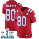 Patriots #80 Danny Amendola Red SuperBowl Men's Limited Jersey