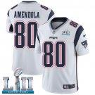 Patriots #80 Danny Amendola White SuperBowl Men's Limited Jersey