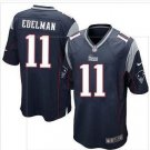 New Patriots #11 Julian Edelman Navy Blue Game Jersey
