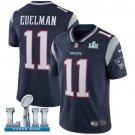 Patriots #11 Julian Edelman Navy Blue SuperBowl Men's Limited Jersey