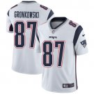 Patriots #87 Rob Gronkowski White Men's Stitched Limited Jersey