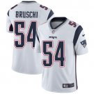 Patriots #54 Tedy Bruschi White Men's Stitched Limited Jersey