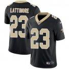 Saints #23 Marshon Lattimore Black Men's Stitched Limited Jersey