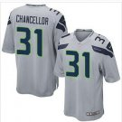 New Seahawks #31 Kam Chancellor Grey Game Jersey