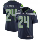 Seahawks #24 Marshawn Lynch Steel Blue Men's Stitched Limited Jersey
