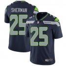 Seahawks #25 Richard Sherman Steel Blue Men's Stitched Limited Jersey
