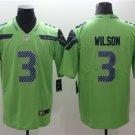Seahawks #3 Russell Wilson Green Limited Jersey