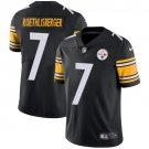 Steelers #7 Ben Roethlisberger Black Men's Stitched Limited Jersey