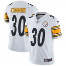 Steelers #30 James Conner White Men's Stitched Limited Jersey