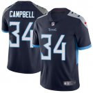 Titans #34 Earl Campbell Navy Blue Men's Stitched Limited Jersey