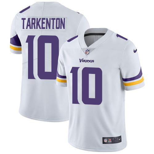 Vikings #10 Fran Tarkenton White Men's Stitched Limited Jersey