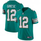 Dolphins #12 Bob Griese Aqua Green Men's Stitched Limited Jersey