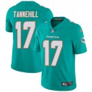 Dolphins #17 Ryan Tannehill Aqua Green Men's Stitched Limited Jersey