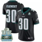 Eagles #30 Corey Clement Black Champions Men's Stitched Limited Jersey