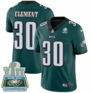 Eagles #30 Corey Clement Green Champions Men's Stitched Limited Jersey