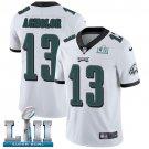 Eagles #13 Nelson Agholor White SuperBowl Men's Limited Jersey