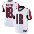 Falcons #18 Taylor Gabriel White Men's Stitched Limited Jersey