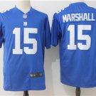 Giants #15 Brandon Marshall Midnight Blue Men's Stitched Game Jersey
