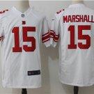 Giants #15 Brandon Marshall Midnight White Men's Stitched Game Jersey