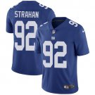 Giants #92 Michael Strahan Royal Blue Men's Stitched Limited Jersey