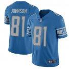 Lions #81 Calvin Johnson Blue Men's Stitched Limited Jersey